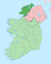 Island of Ireland location map Donegal.svg