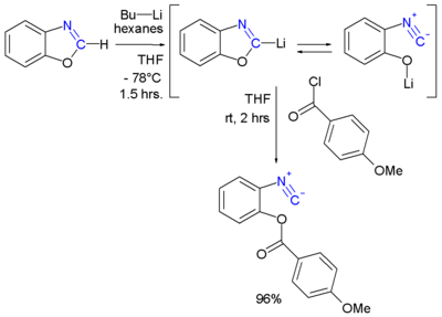 Isonitrile Oxazole Synthesis