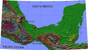 Mapa de la región del istmo