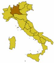 Pozice obce na mapě Itálie