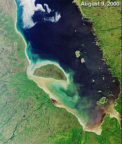 Image satellite de la baie James.