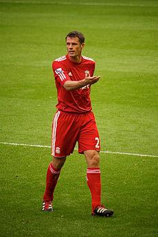 Jamie Carragher Liverpool vs Bolton 2011.jpg