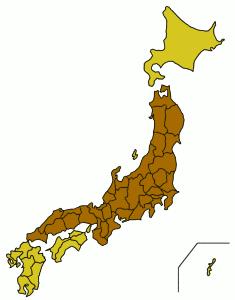 Carte de Honshū.