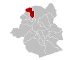 Situation de la commune au sein dela région de Bruxelles-Capitale