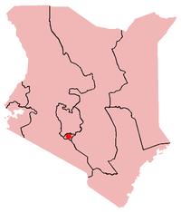 Ubicación de Nairobi en Kenia