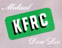 "Radio station call letters in bold sans-serif type, accompanied by the words ""Mutual"" and ""Don Lee"" in elegant cursive."
