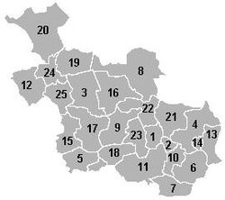 The municipalities of Overijssel