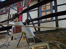 Gros plan du rotor engrenant du Kaman H-43