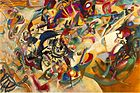 Large, colorful abstract painting