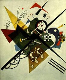 Abstract painting, with many colorful points