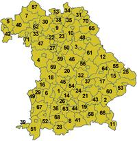 Bavorské zemské okresy