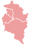 Map indicating the districts of Vorarlberg
