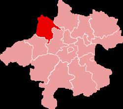 Ligging van het district Schärding in de deelstaat Opper-Oostenrijk