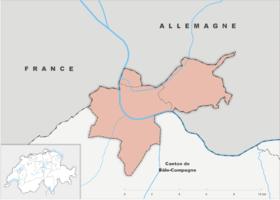 (Voir situation sur carte: canton de Bâle-Ville)