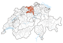 Ubicación de Cantón de Argovia