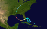 Parcours de l'ouragan Katrina