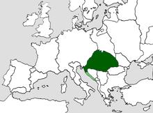 Ubicación de Hungría
