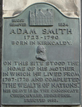 A plaque of Smith