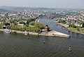 Monding in de Rijn bij Koblenz