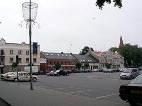 Kretinga: vue du centre-ville