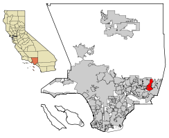 LA County Incorporated Areas San Dimas highlighted.svg