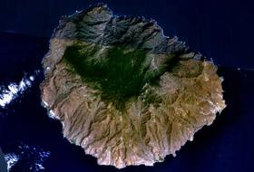 Image satellite de La Gomera.