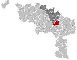 La Louvière Hainaut Belgium Map.png