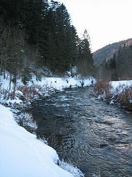 La Vologne à Kichompré en aval du confluent avec la Jamagne.