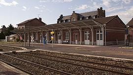 Gare de Chaulnes, côté quai (aout 2009)