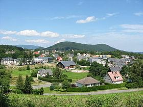 La Place, partie haute du village