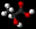 structure tri-dimensionnelle de de l'acide lactique