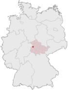 Lage der kreisfreien Stadt Eisenach in Deutschland