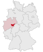 Localización del distrito Hochsauerland en Alemania