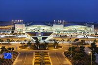 Larnaca International Airport night Republic of Cyprus.jpg