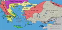 Ubicación de Imperio latino