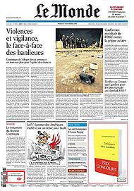 Le Monde front page