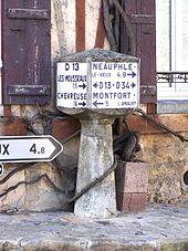 Les anciens panneaux directionnels.
