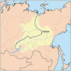 Ubicación de Yakutsk
