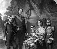 Léopold 1er et sa famille.