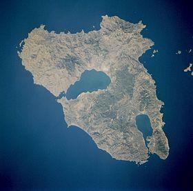 Photo satellitaire de Lesbos