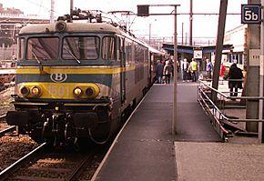 La locomotive 1501 en gare de Liège-Guillemins