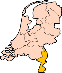 Map: Provincie Limburg in Nederland