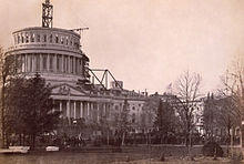 the unfinished Capitol dome, 1860
