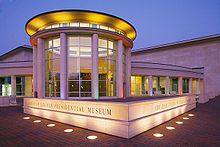 Exterior photograph of museum