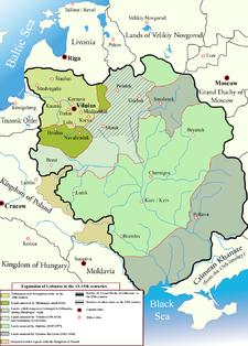 Ubicación de Gran Ducado de Lituania
