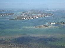 Vue aérienne des îles Keys.