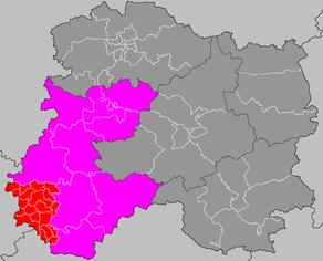 Situation du canton d'Esternay dans le département Marne
