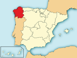 Ubicacin de Galicia