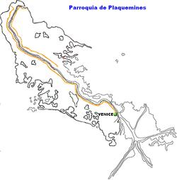 Ubicación de Luisiana en EE.UU.