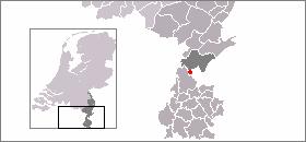 Localisation de Nieuwstadt dans la commune de Echt-Susteren